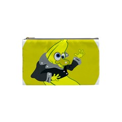 Funny Cartoon Punk Banana Illustration Cosmetic Bag (small)  by BangZart