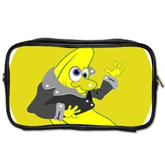 Funny Cartoon Punk Banana Illustration Toiletries Bags 2 Side by BangZart