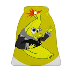 Funny Cartoon Punk Banana Illustration Bell Ornament (two Sides) by BangZart
