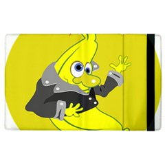 Funny Cartoon Punk Banana Illustration Apple Ipad 2 Flip Case by BangZart