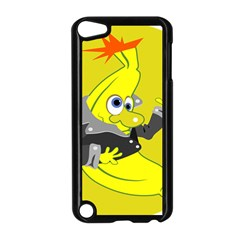 Funny Cartoon Punk Banana Illustration Apple Ipod Touch 5 Case (black) by BangZart