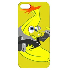 Funny Cartoon Punk Banana Illustration Apple Iphone 5 Hardshell Case With Stand