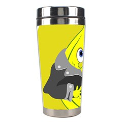 Funny Cartoon Punk Banana Illustration Stainless Steel Travel Tumblers by BangZart