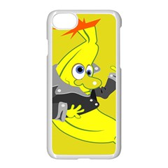Funny Cartoon Punk Banana Illustration Apple Iphone 7 Seamless Case (white) by BangZart