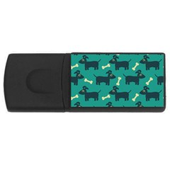Happy Dogs Animals Pattern Usb Flash Drive Rectangular (4 Gb) by BangZart