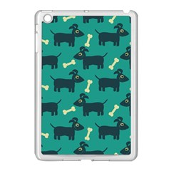 Happy Dogs Animals Pattern Apple Ipad Mini Case (white) by BangZart