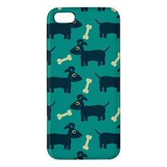 Happy Dogs Animals Pattern Apple Iphone 5 Premium Hardshell Case by BangZart