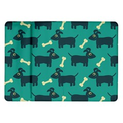 Happy Dogs Animals Pattern Samsung Galaxy Tab 10 1  P7500 Flip Case by BangZart