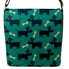 Happy Dogs Animals Pattern Flap Messenger Bag (s) by BangZart