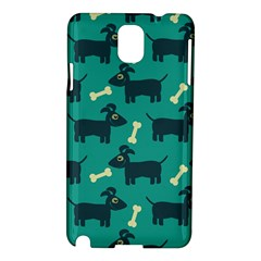 Happy Dogs Animals Pattern Samsung Galaxy Note 3 N9005 Hardshell Case by BangZart