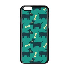Happy Dogs Animals Pattern Apple Iphone 6/6s Black Enamel Case