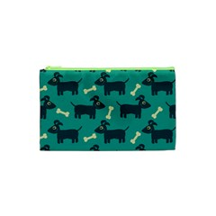 Happy Dogs Animals Pattern Cosmetic Bag (xs) by BangZart