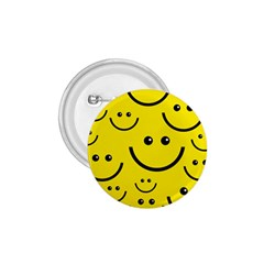 Digitally Created Yellow Happy Smile  Face Wallpaper 1 75  Buttons