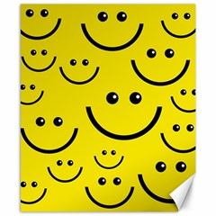 Digitally Created Yellow Happy Smile  Face Wallpaper Canvas 8  X 10  by BangZart