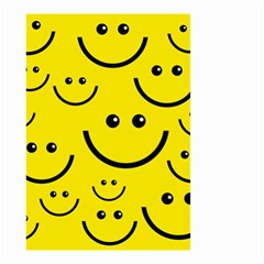 Digitally Created Yellow Happy Smile  Face Wallpaper Small Garden Flag (two Sides) by BangZart