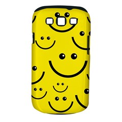 Digitally Created Yellow Happy Smile  Face Wallpaper Samsung Galaxy S Iii Classic Hardshell Case (pc+silicone) by BangZart