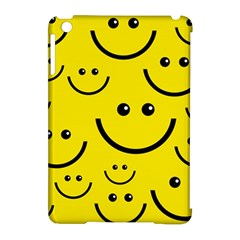 Digitally Created Yellow Happy Smile  Face Wallpaper Apple Ipad Mini Hardshell Case (compatible With Smart Cover) by BangZart