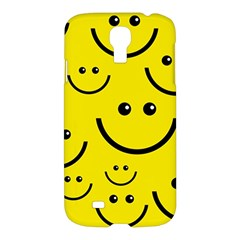 Digitally Created Yellow Happy Smile  Face Wallpaper Samsung Galaxy S4 I9500/i9505 Hardshell Case by BangZart