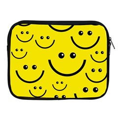 Digitally Created Yellow Happy Smile  Face Wallpaper Apple Ipad 2/3/4 Zipper Cases by BangZart