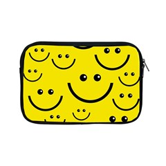 Digitally Created Yellow Happy Smile  Face Wallpaper Apple Ipad Mini Zipper Cases by BangZart