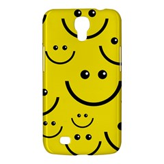Digitally Created Yellow Happy Smile  Face Wallpaper Samsung Galaxy Mega 6 3  I9200 Hardshell Case by BangZart