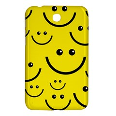 Digitally Created Yellow Happy Smile  Face Wallpaper Samsung Galaxy Tab 3 (7 ) P3200 Hardshell Case  by BangZart