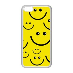 Digitally Created Yellow Happy Smile  Face Wallpaper Apple Iphone 5c Seamless Case (white) by BangZart