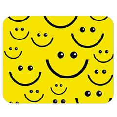 Digitally Created Yellow Happy Smile  Face Wallpaper Double Sided Flano Blanket (medium)  by BangZart