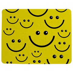Digitally Created Yellow Happy Smile  Face Wallpaper Jigsaw Puzzle Photo Stand (rectangular) by BangZart