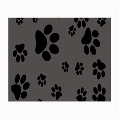 Dog Foodprint Paw Prints Seamless Background And Pattern Small Glasses Cloth (2-side) by BangZart
