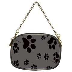 Dog Foodprint Paw Prints Seamless Background And Pattern Chain Purses (one Side)  by BangZart
