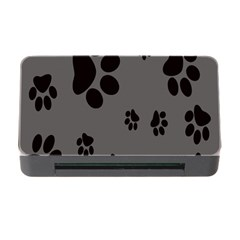 Dog Foodprint Paw Prints Seamless Background And Pattern Memory Card Reader With Cf by BangZart