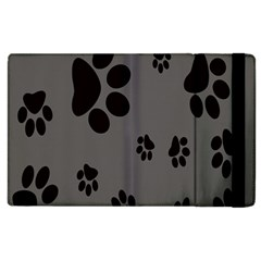 Dog Foodprint Paw Prints Seamless Background And Pattern Apple Ipad 2 Flip Case by BangZart