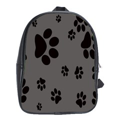 Dog Foodprint Paw Prints Seamless Background And Pattern School Bags (xl)  by BangZart