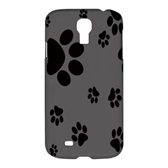 Dog Foodprint Paw Prints Seamless Background And Pattern Samsung Galaxy S4 I9500/i9505 Hardshell Case by BangZart