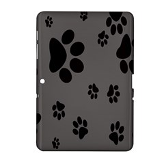 Dog Foodprint Paw Prints Seamless Background And Pattern Samsung Galaxy Tab 2 (10 1 ) P5100 Hardshell Case  by BangZart