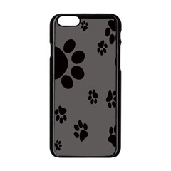 Dog Foodprint Paw Prints Seamless Background And Pattern Apple Iphone 6/6s Black Enamel Case by BangZart