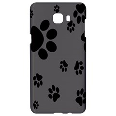 Dog Foodprint Paw Prints Seamless Background And Pattern Samsung C9 Pro Hardshell Case