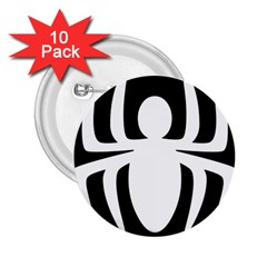 White Spider 2 25  Buttons (10 Pack)  by BangZart