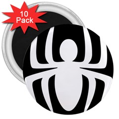 White Spider 3  Magnets (10 Pack)  by BangZart