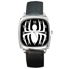 White Spider Square Metal Watch by BangZart