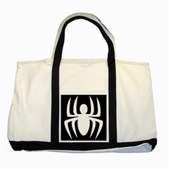 White Spider Two Tone Tote Bag by BangZart