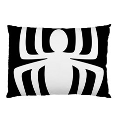 White Spider Pillow Case (two Sides) by BangZart