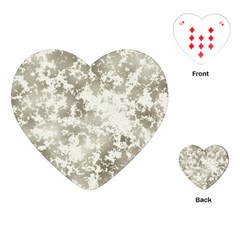 Wall Rock Pattern Structure Dirty Playing Cards (heart)  by BangZart