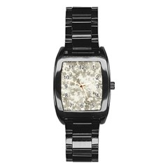 Wall Rock Pattern Structure Dirty Stainless Steel Barrel Watch by BangZart