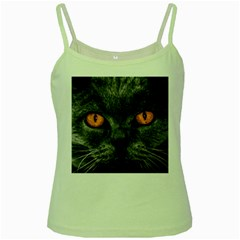 Cat Eyes Background Image Hypnosis Green Spaghetti Tank by BangZart