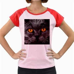 Cat Eyes Background Image Hypnosis Women s Cap Sleeve T Shirt by BangZart
