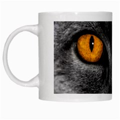 Cat Eyes Background Image Hypnosis White Mugs by BangZart