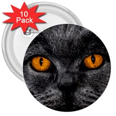 Cat Eyes Background Image Hypnosis 3  Buttons (10 Pack)  by BangZart