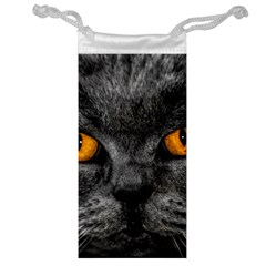 Cat Eyes Background Image Hypnosis Jewelry Bag